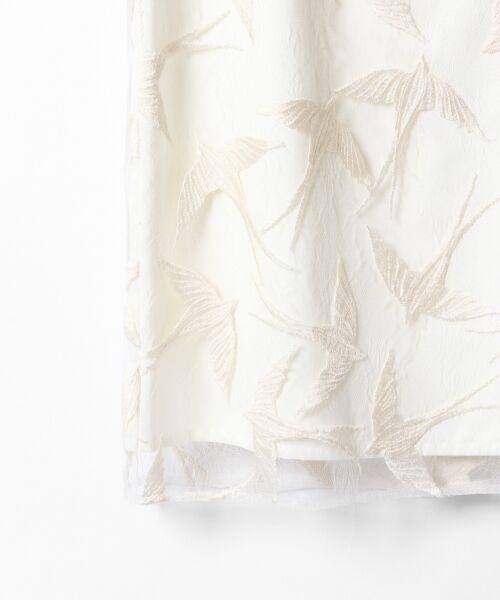 GRACE CONTINENTAL / グレースコンチネンタル ドレス | バードチュールワンピース | 詳細3
