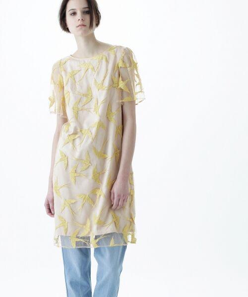 GRACE CONTINENTAL / グレースコンチネンタル ドレス | バードチュールワンピース | 詳細6