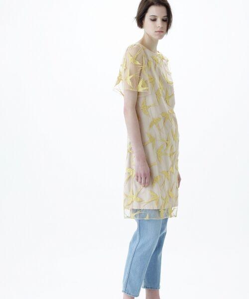 GRACE CONTINENTAL / グレースコンチネンタル ドレス | バードチュールワンピース | 詳細7