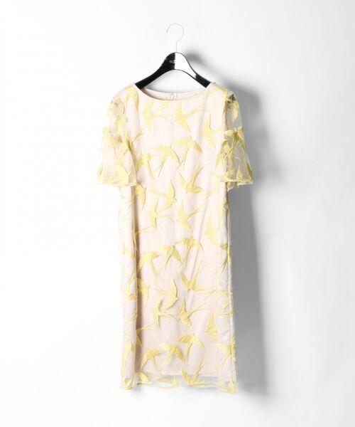 GRACE CONTINENTAL / グレースコンチネンタル ドレス | バードチュールワンピース | 詳細8