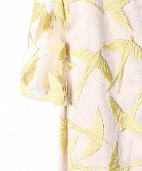 GRACE CONTINENTAL / グレースコンチネンタル ドレス | バードチュールワンピース | 詳細9