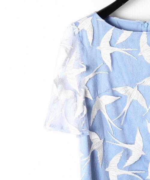 GRACE CONTINENTAL / グレースコンチネンタル ドレス | バードチュールワンピース | 詳細11