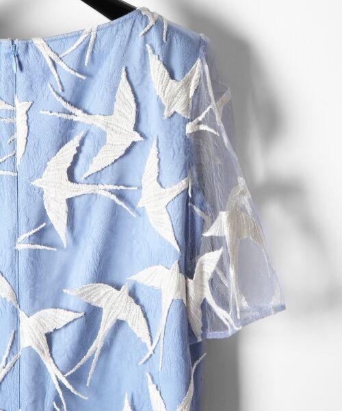 GRACE CONTINENTAL / グレースコンチネンタル ドレス | バードチュールワンピース | 詳細14