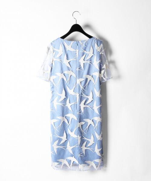 GRACE CONTINENTAL / グレースコンチネンタル ドレス | バードチュールワンピース | 詳細15