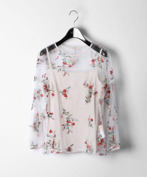 GRACE CONTINENTAL / グレースコンチネンタル Tシャツ | フラワーチュール刺繍トップ | 詳細1