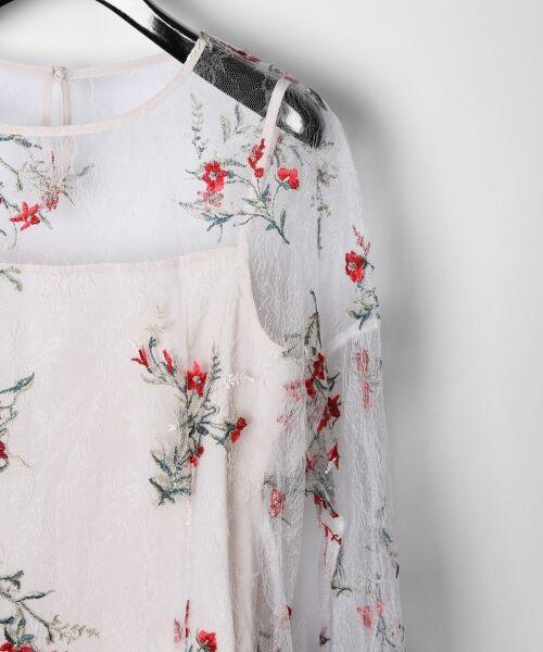 GRACE CONTINENTAL / グレースコンチネンタル Tシャツ | フラワーチュール刺繍トップ | 詳細2