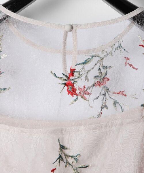 GRACE CONTINENTAL / グレースコンチネンタル Tシャツ | フラワーチュール刺繍トップ | 詳細4