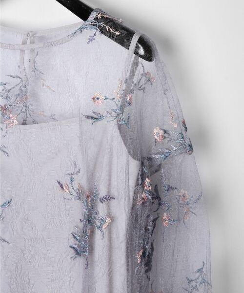 GRACE CONTINENTAL / グレースコンチネンタル Tシャツ | フラワーチュール刺繍トップ | 詳細6