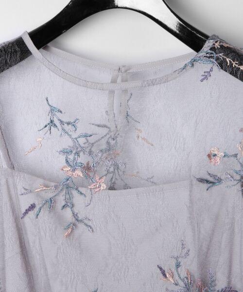 GRACE CONTINENTAL / グレースコンチネンタル Tシャツ | フラワーチュール刺繍トップ | 詳細7