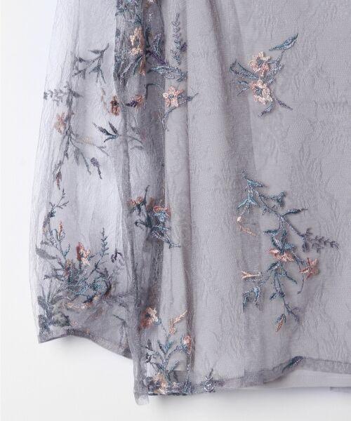GRACE CONTINENTAL / グレースコンチネンタル Tシャツ | フラワーチュール刺繍トップ | 詳細8