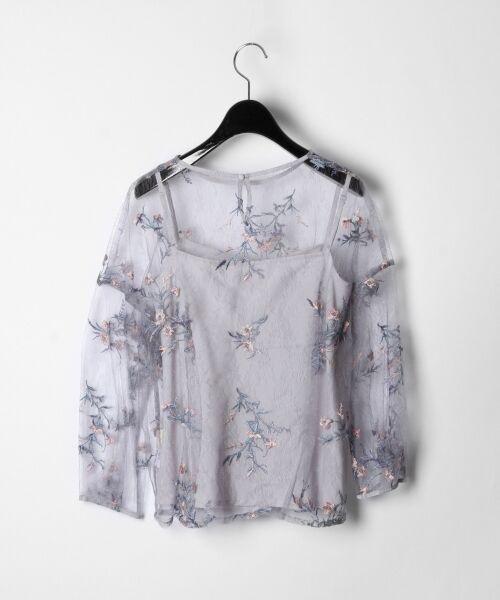 GRACE CONTINENTAL / グレースコンチネンタル Tシャツ | フラワーチュール刺繍トップ | 詳細9