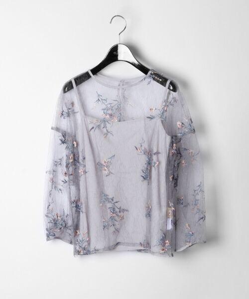 GRACE CONTINENTAL / グレースコンチネンタル Tシャツ | フラワーチュール刺繍トップ | 詳細5