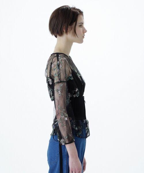 GRACE CONTINENTAL / グレースコンチネンタル Tシャツ | フラワーチュール刺繍トップ | 詳細11