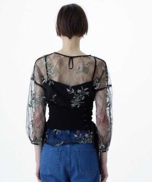 GRACE CONTINENTAL / グレースコンチネンタル Tシャツ | フラワーチュール刺繍トップ | 詳細12