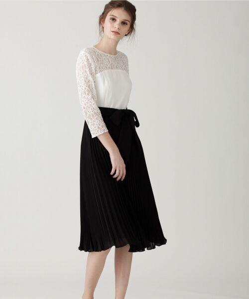 GRACE CONTINENTAL / グレースコンチネンタル ドレス | レース切替プリーツワンピース | 詳細2
