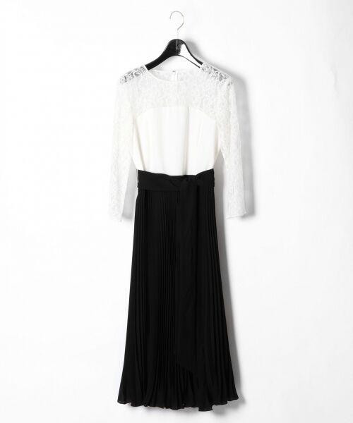 GRACE CONTINENTAL / グレースコンチネンタル ドレス | レース切替プリーツワンピース | 詳細3