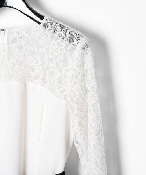 GRACE CONTINENTAL / グレースコンチネンタル ドレス | レース切替プリーツワンピース | 詳細4