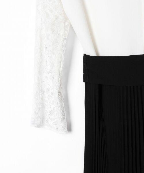GRACE CONTINENTAL / グレースコンチネンタル ドレス | レース切替プリーツワンピース | 詳細6