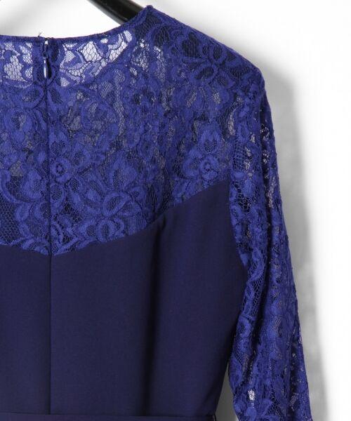 GRACE CONTINENTAL / グレースコンチネンタル ドレス | レース切替プリーツワンピース | 詳細10