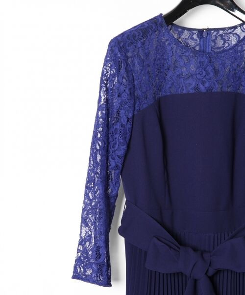 GRACE CONTINENTAL / グレースコンチネンタル ドレス | レース切替プリーツワンピース | 詳細7