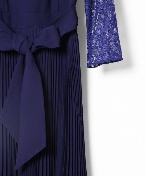 GRACE CONTINENTAL / グレースコンチネンタル ドレス | レース切替プリーツワンピース | 詳細8