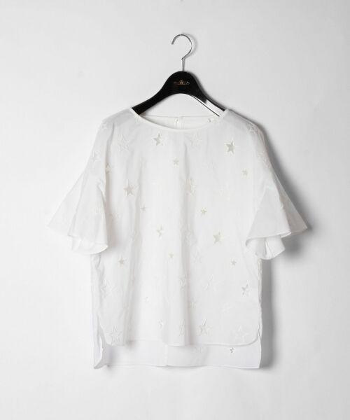 GRACE CONTINENTAL / グレースコンチネンタル Tシャツ | スターカットワークトップ(ホワイト)