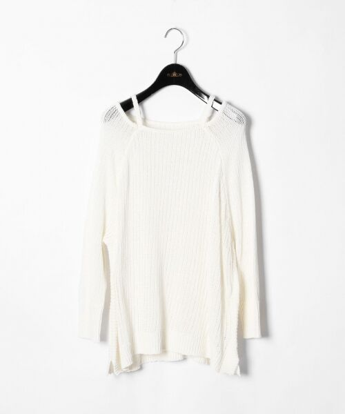 GRACE CONTINENTAL / グレースコンチネンタル ニット・セーター | メッシュニットトップ(ホワイト)