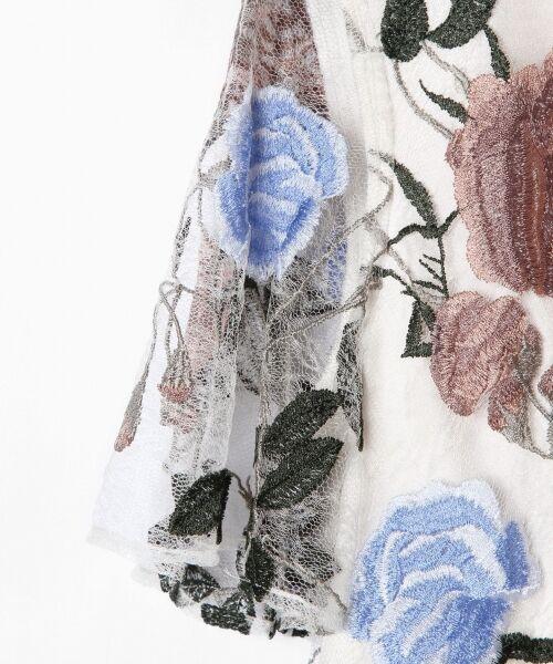 GRACE CONTINENTAL / グレースコンチネンタル ドレス   ローズ刺繍フレアワンピース   詳細2