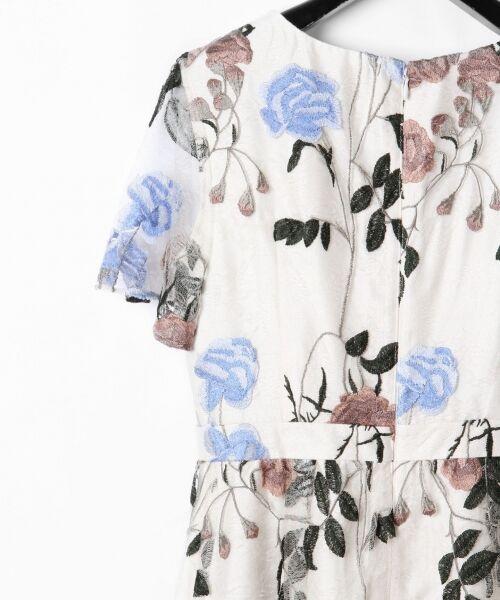 GRACE CONTINENTAL / グレースコンチネンタル ドレス   ローズ刺繍フレアワンピース   詳細3