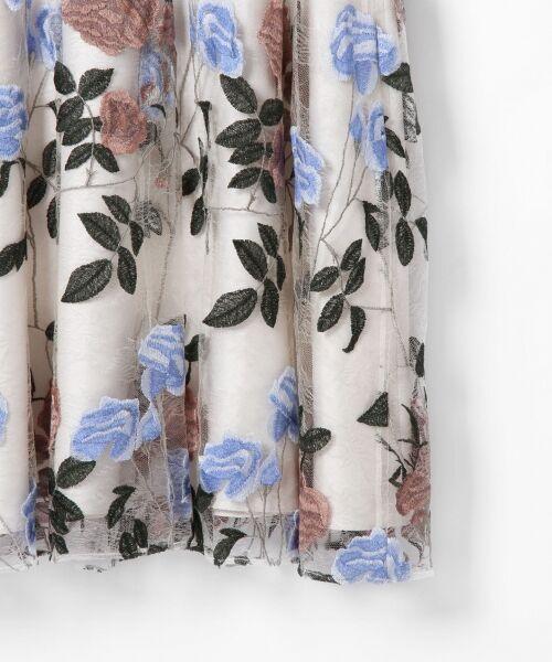 GRACE CONTINENTAL / グレースコンチネンタル ドレス   ローズ刺繍フレアワンピース   詳細4