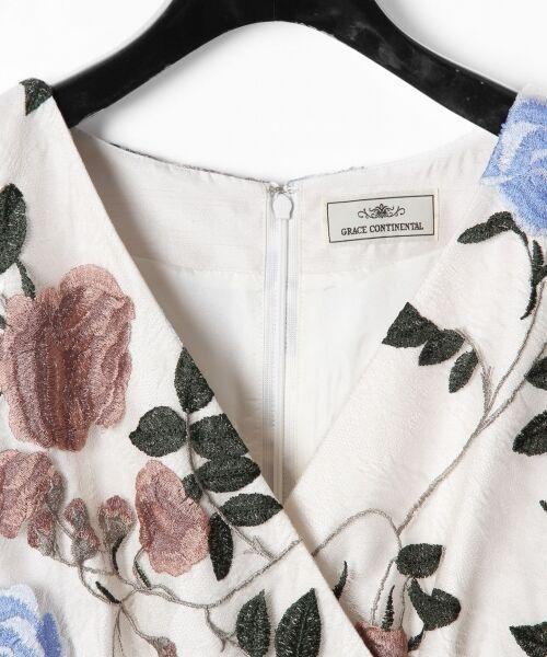 GRACE CONTINENTAL / グレースコンチネンタル ドレス   ローズ刺繍フレアワンピース   詳細1