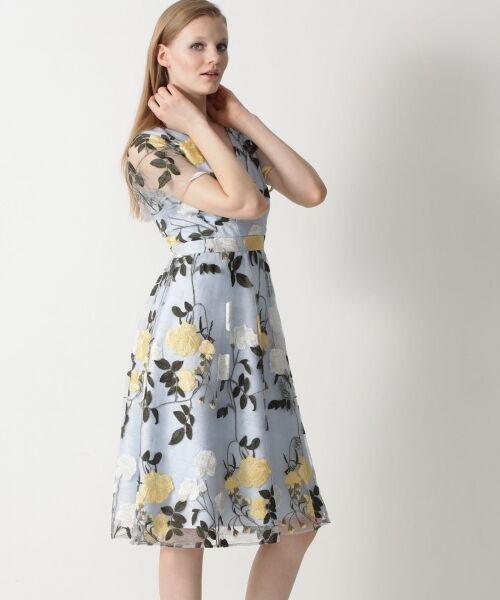 GRACE CONTINENTAL / グレースコンチネンタル ドレス   ローズ刺繍フレアワンピース   詳細6