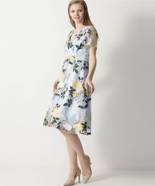 GRACE CONTINENTAL / グレースコンチネンタル ドレス   ローズ刺繍フレアワンピース   詳細7