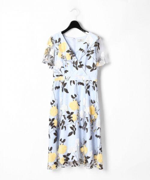 GRACE CONTINENTAL / グレースコンチネンタル ドレス   ローズ刺繍フレアワンピース   詳細8