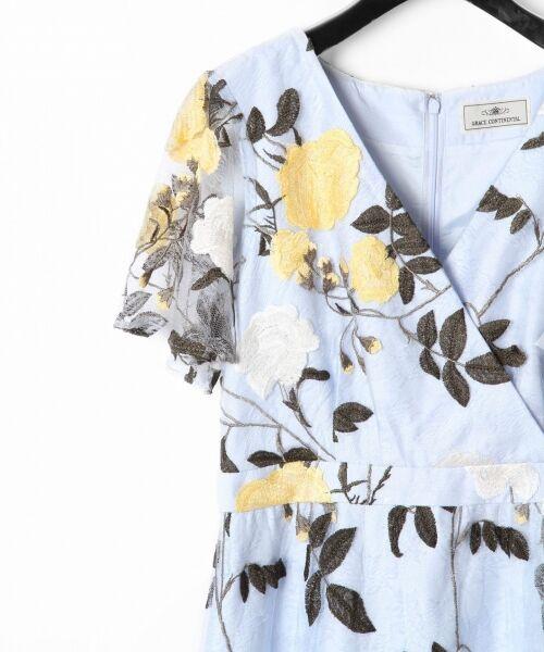 GRACE CONTINENTAL / グレースコンチネンタル ドレス   ローズ刺繍フレアワンピース   詳細9