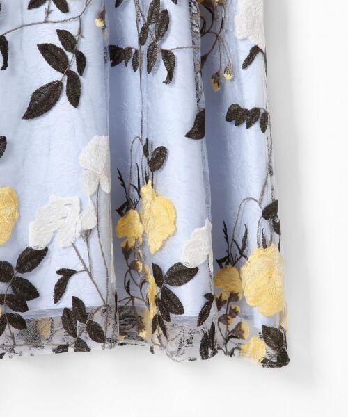 GRACE CONTINENTAL / グレースコンチネンタル ドレス   ローズ刺繍フレアワンピース   詳細10