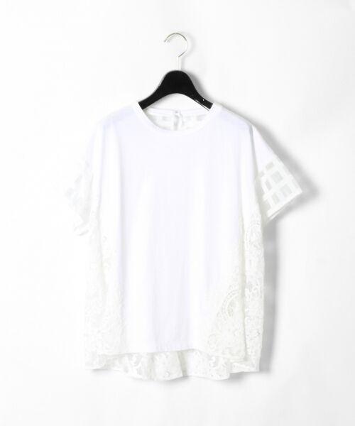 GRACE CONTINENTAL / グレースコンチネンタル Tシャツ | チェックレースコンビトップ | 詳細3