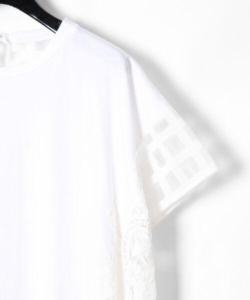 GRACE CONTINENTAL / グレースコンチネンタル Tシャツ | チェックレースコンビトップ | 詳細4
