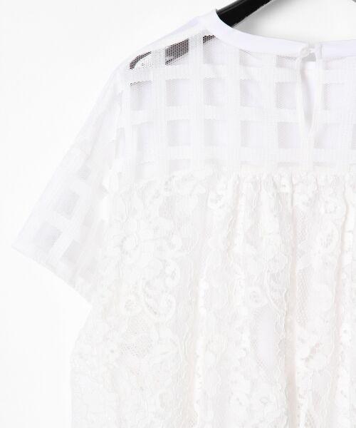 GRACE CONTINENTAL / グレースコンチネンタル Tシャツ | チェックレースコンビトップ | 詳細6