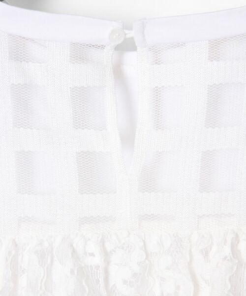 GRACE CONTINENTAL / グレースコンチネンタル Tシャツ | チェックレースコンビトップ | 詳細7