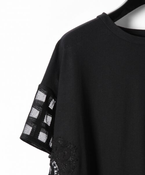 GRACE CONTINENTAL / グレースコンチネンタル Tシャツ | チェックレースコンビトップ | 詳細10