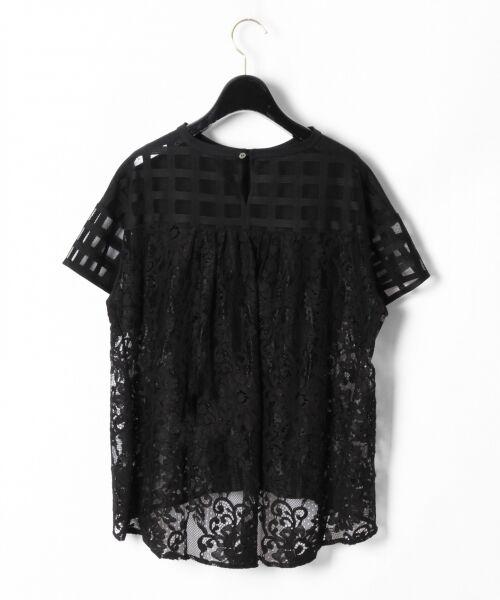 GRACE CONTINENTAL / グレースコンチネンタル Tシャツ | チェックレースコンビトップ | 詳細14