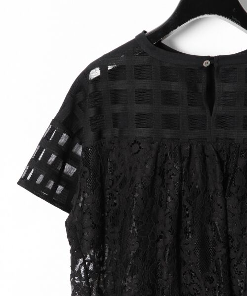 GRACE CONTINENTAL / グレースコンチネンタル Tシャツ | チェックレースコンビトップ | 詳細15