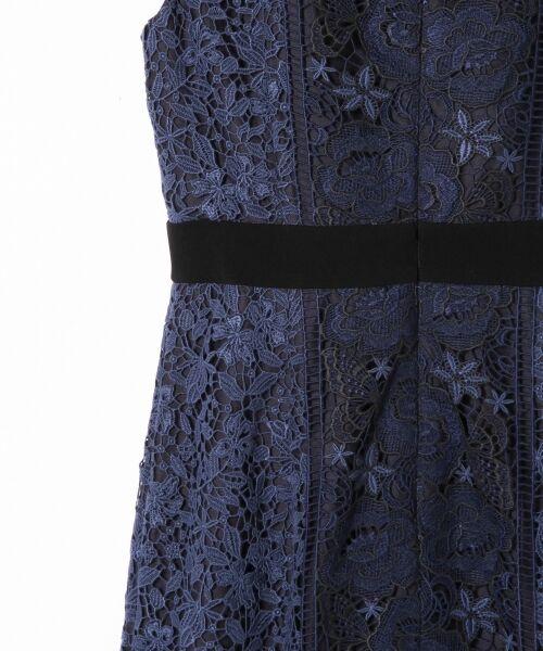 GRACE CONTINENTAL / グレースコンチネンタル ミニ丈・ひざ丈ワンピース | ケミカルフラワーレースワンピース | 詳細12