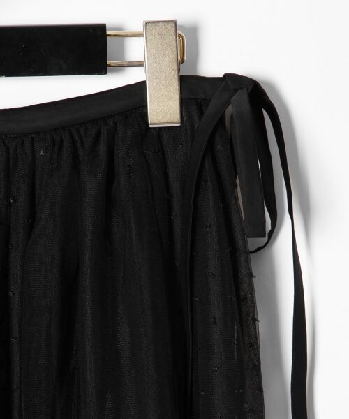GRACE CONTINENTAL / グレースコンチネンタル ミニ・ひざ丈スカート | ドットチュールロングスカート | 詳細13