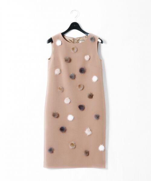 GRACE CONTINENTAL / グレースコンチネンタル ドレス | ミンクポンポンドレス | 詳細3