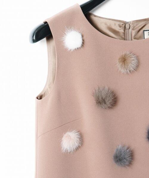 GRACE CONTINENTAL / グレースコンチネンタル ドレス | ミンクポンポンドレス | 詳細4