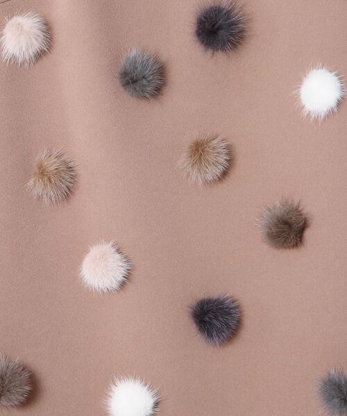 GRACE CONTINENTAL / グレースコンチネンタル ドレス | ミンクポンポンドレス | 詳細5