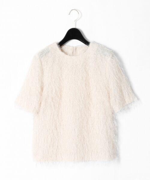GRACE CONTINENTAL / グレースコンチネンタル Tシャツ   フリンジトップ(キナリ)