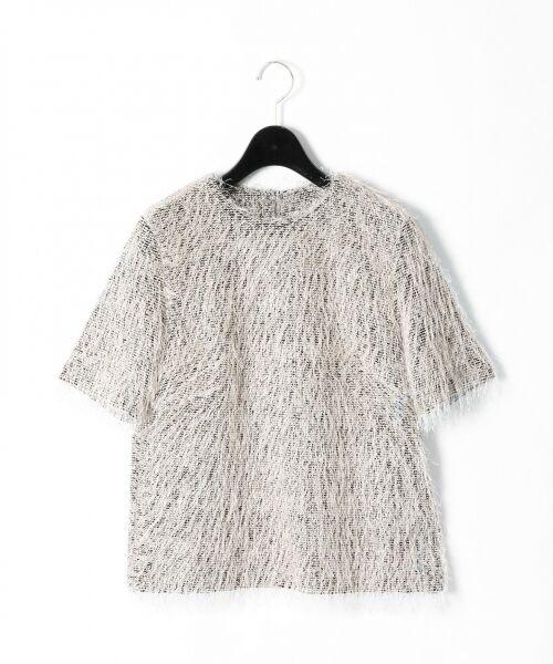 GRACE CONTINENTAL / グレースコンチネンタル Tシャツ   フリンジトップ   詳細10